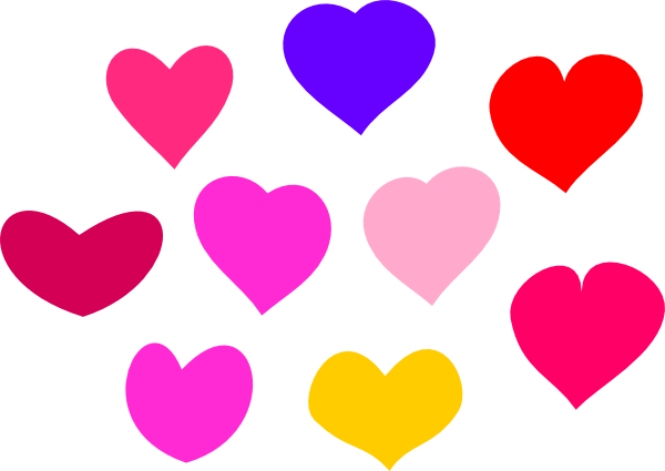 Cute hearts clipart jpg free stock Bundle Of Hearts Clip Art at Clker.com - vector clip art online ... jpg free stock