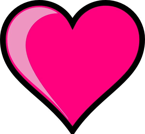Cute pink heart clipart. Kid panda free images