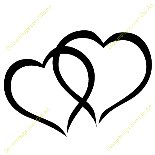 Cute hearts clipart clip art library stock Interlocking Hearts Clipart - Clipart Kid clip art library stock