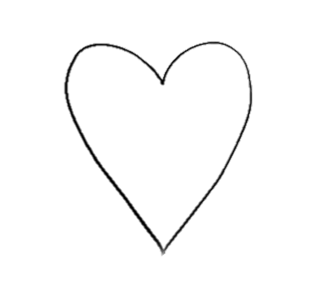 Cute hearts clipart black and white vector transparent cute, pretty and black and white image on We Heart It vector transparent