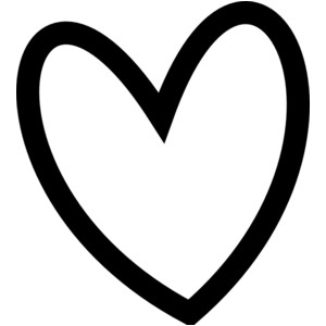 Cute hearts clipart black and white free stock Cute Heart - ClipArt Best free stock