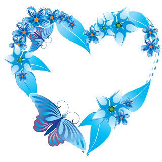 Cute hearts clipart blue svg library download Heart Shape Flowers - Valentine Images svg library download