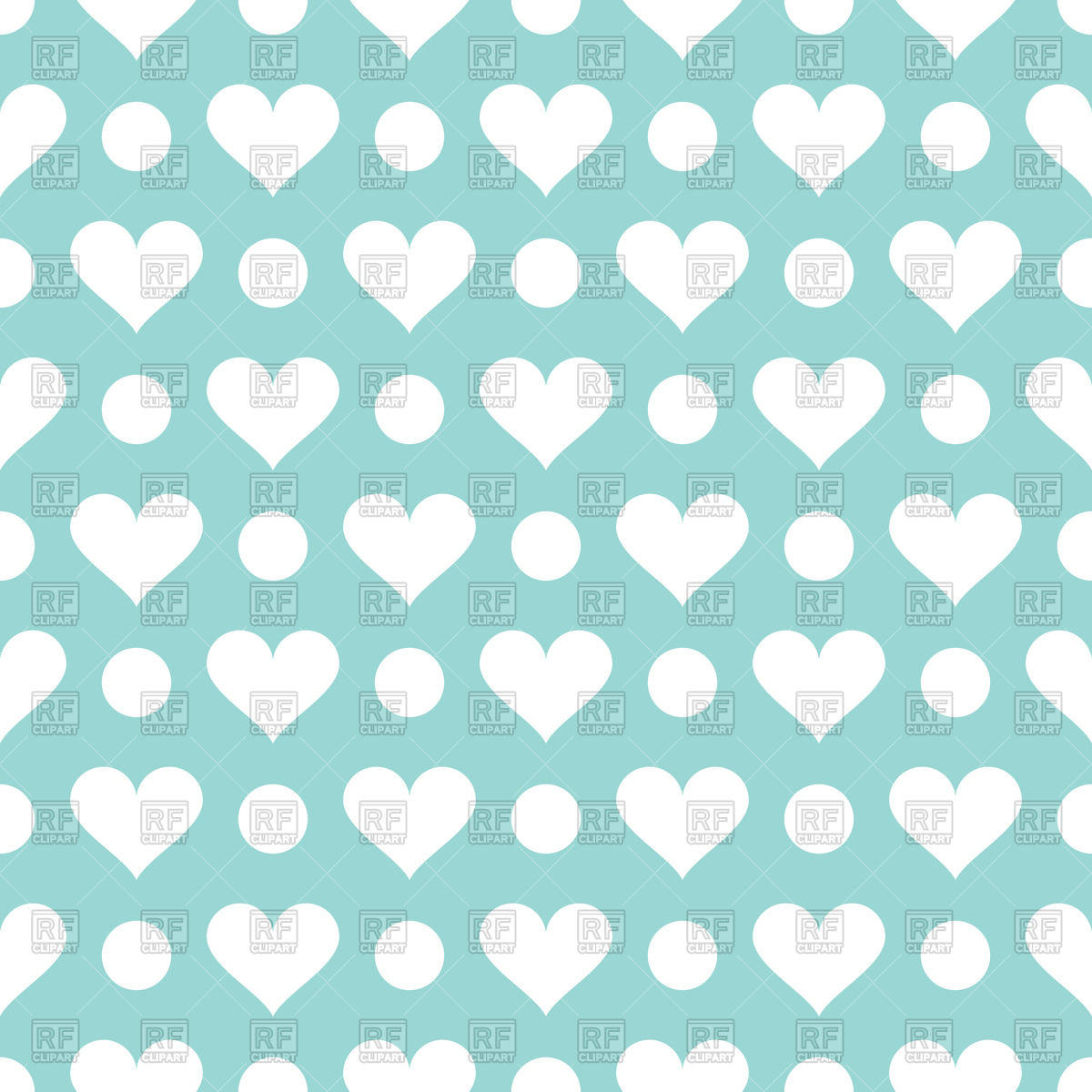 Cute hearts clipart blue graphic transparent Abstract seamless pattern with cute hearts Vector Image #52161 ... graphic transparent
