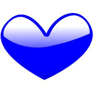 Cute hearts clipart blue jpg library Blue heart clipart - ClipartFox jpg library