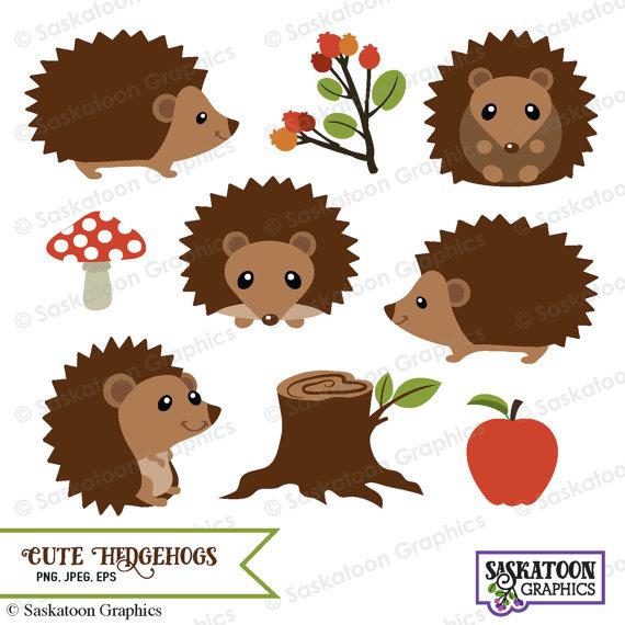 Hedgehog clipart pictures vector stock Cute Woodland Hedgehog Clipart - Instant Download File - Digital ... vector stock