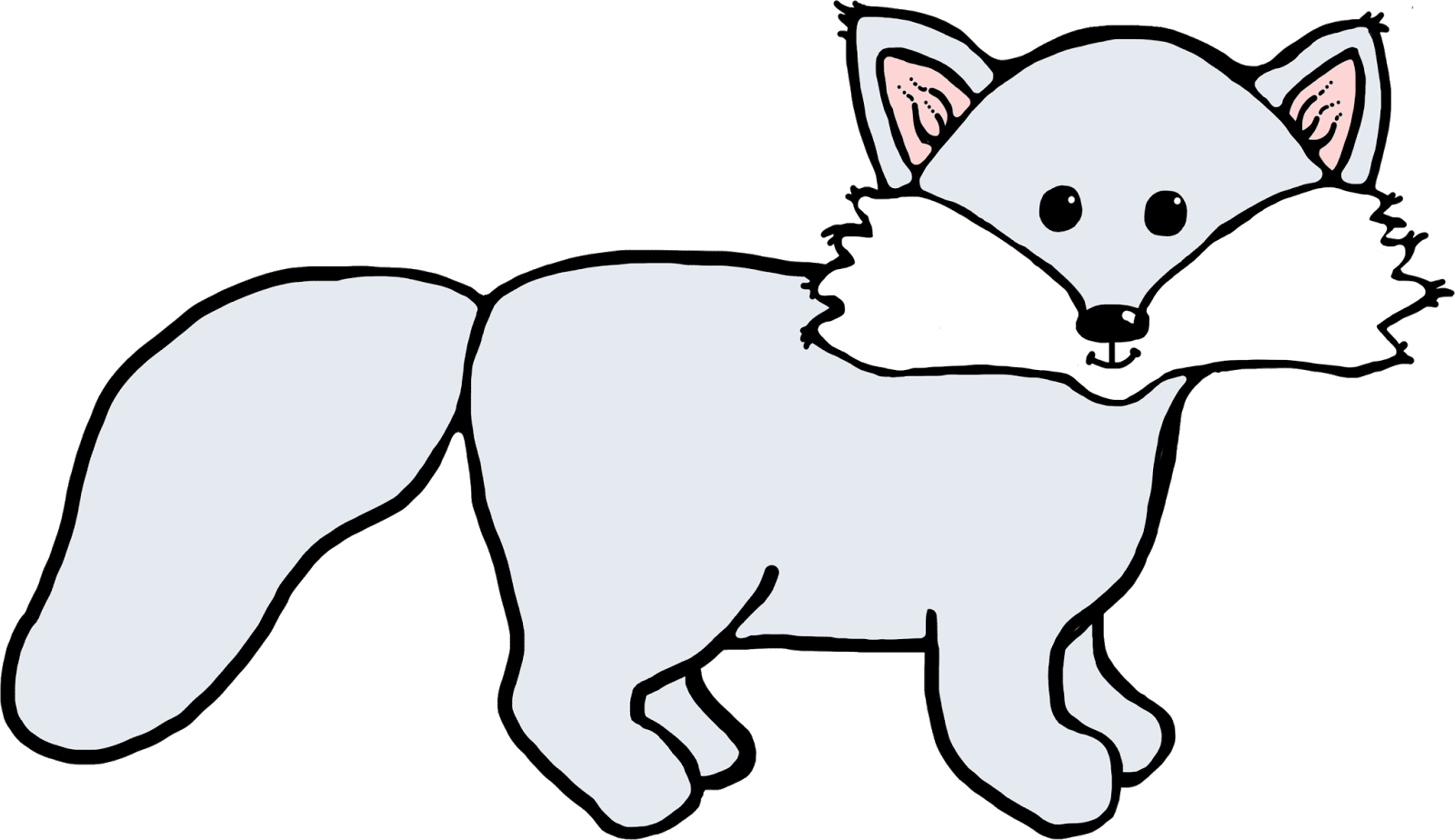 Black And White Fox Clipart | Free download best Black And White Fox ... black and white library
