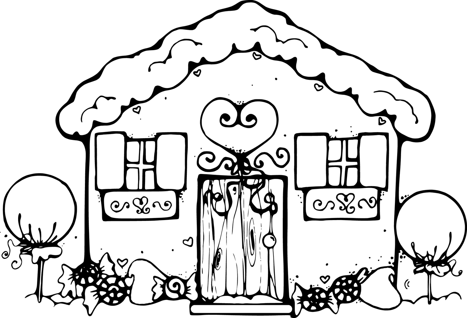 Cute house clipart black and white clip transparent download Gingerbread Baby Clipart (58+) clip transparent download