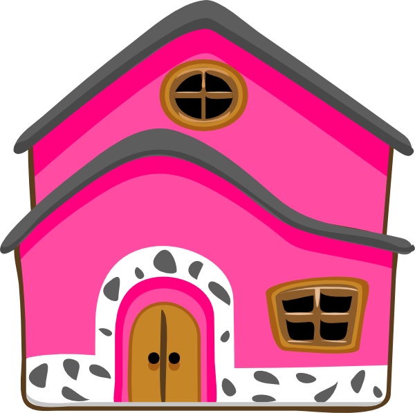 Cute house clipart png. Pink clip art at