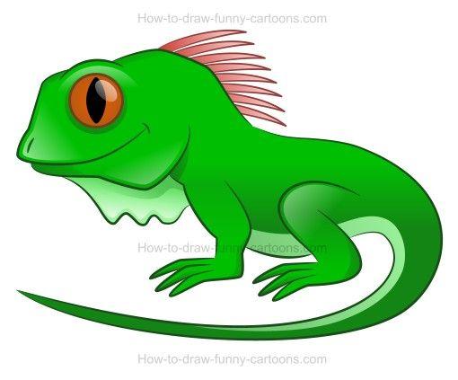 Cute iguana clipart jpg black and white download How to draw a cartoon iguana | iguanas | Drawings, Cute ... jpg black and white download