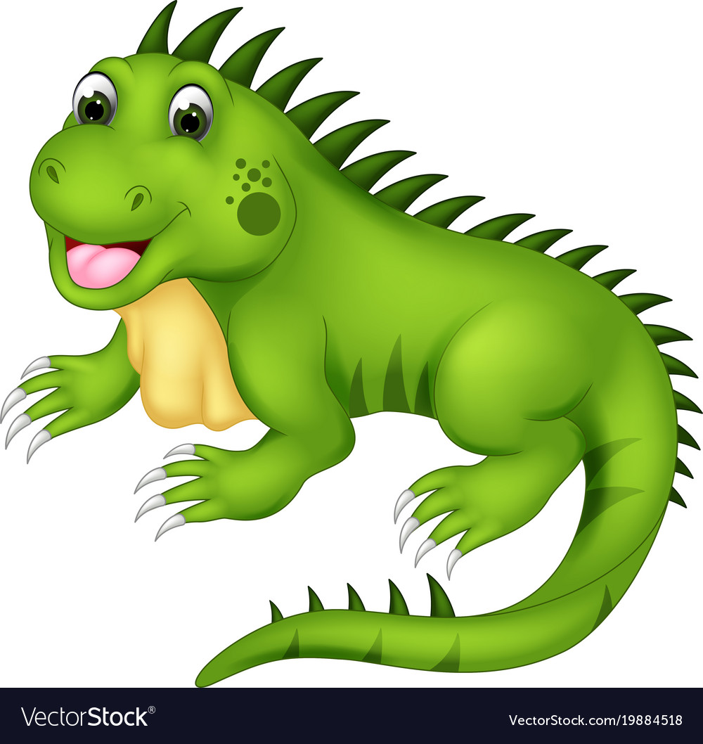 Cute iguana clipart banner library Cute iguana cartoon posing with laughing banner library