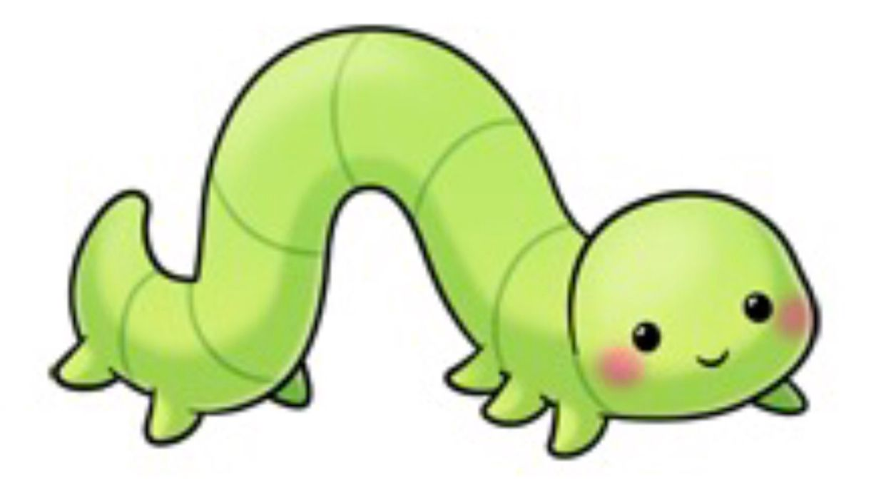 Cute inchworm clipart image black and white Inch Worm | (Best) Drawings & Comics in 2019 | Cute drawings ... image black and white