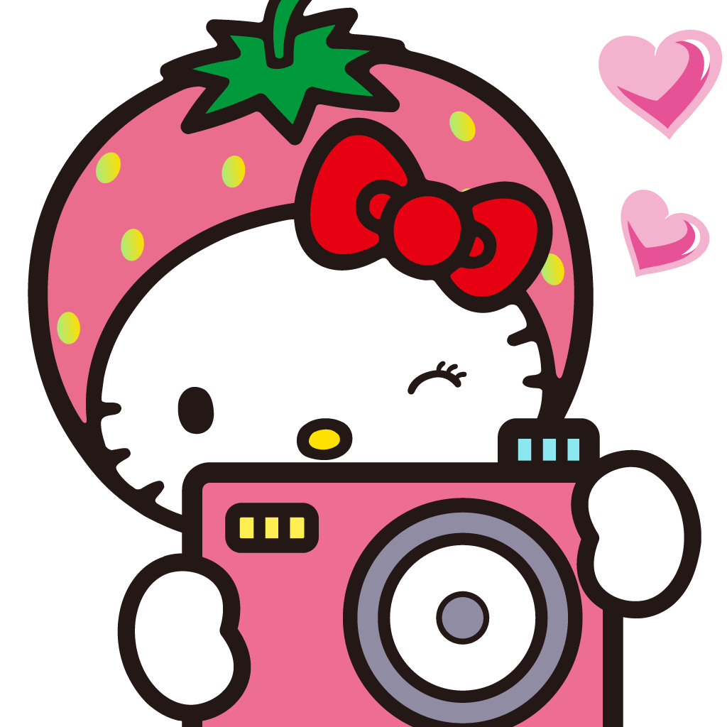 Vintage hello clipartfest kitty. Cute instagram clipart