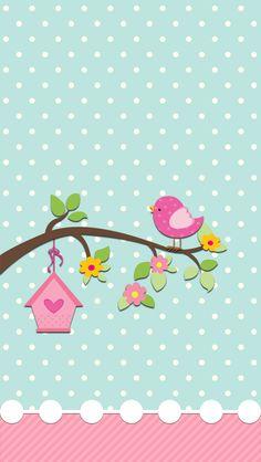 Digital home tweet birds. Cute instagram clipart free
