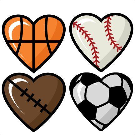 Cute instagram clipart free. Sports hearts set scrapbook