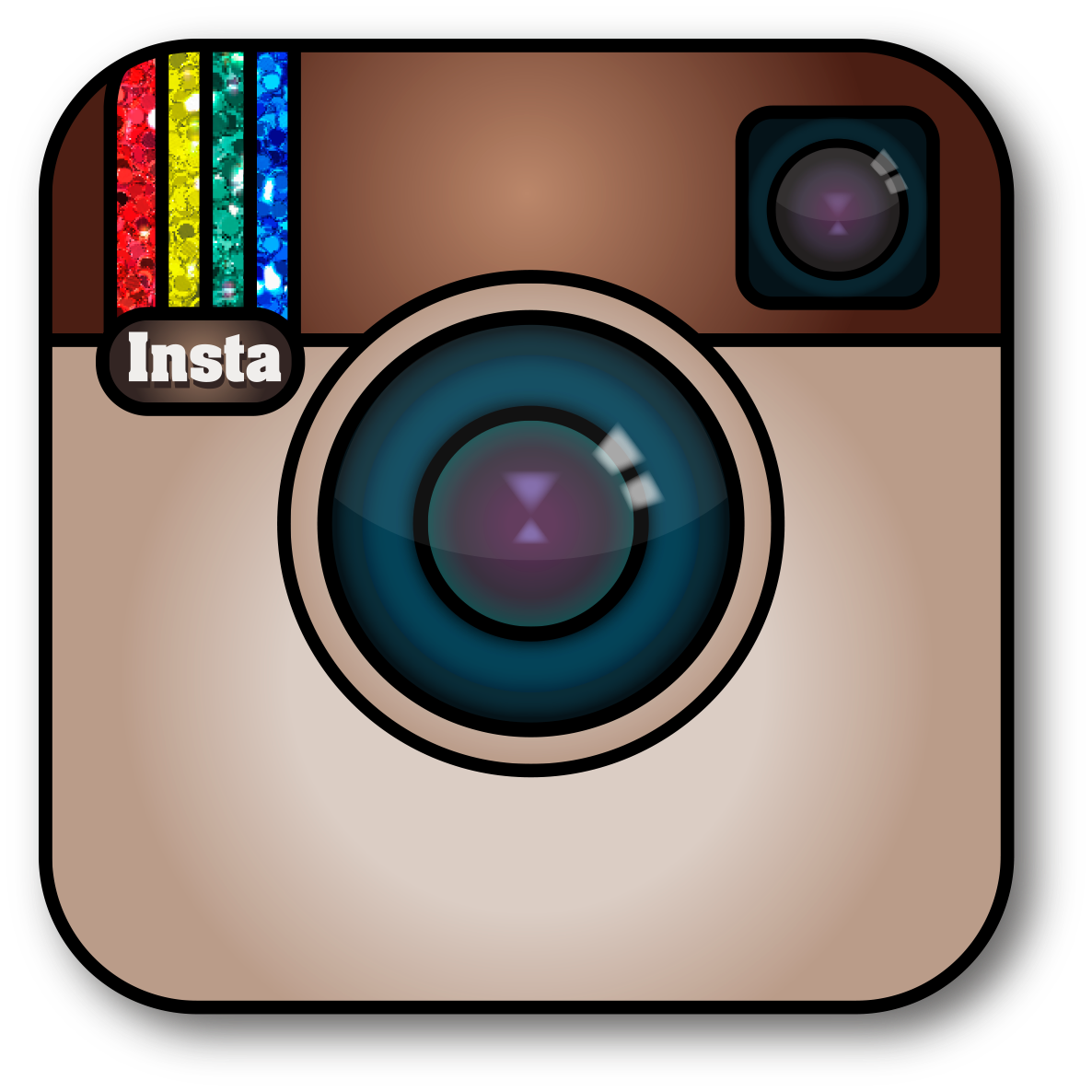 Cute instagram clipart free graphic black and white library Utilizing Instagram in the Classroom - My Special Learners graphic black and white library