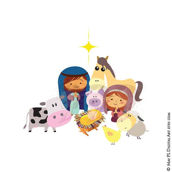Cute jesus clipart clipart picture free download Christmas Nativity Stable Scene Baby Jesus Christ Birth Manger ... picture free download