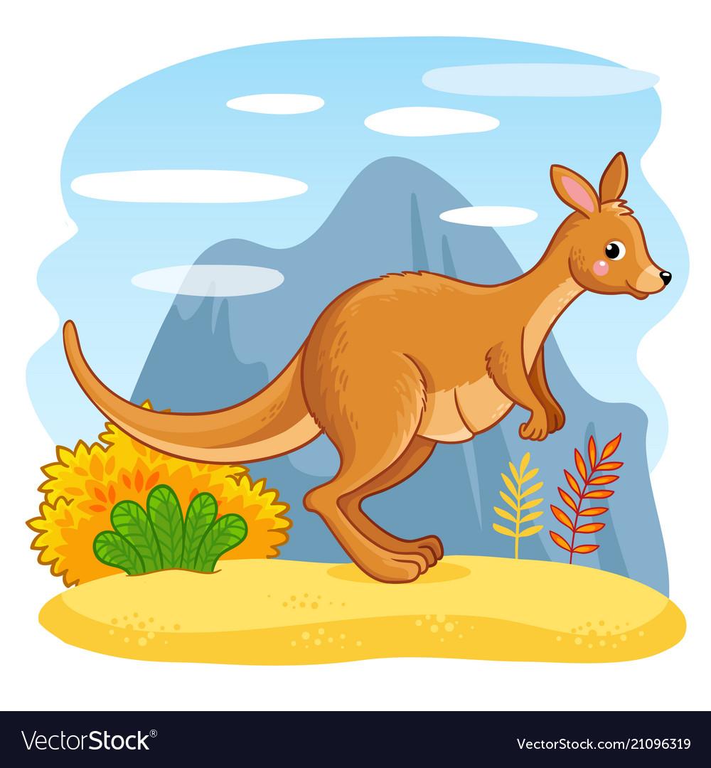 Cute kangaroo clipart vector transparent stock Cute kangaroos jumping through the sand vector transparent stock