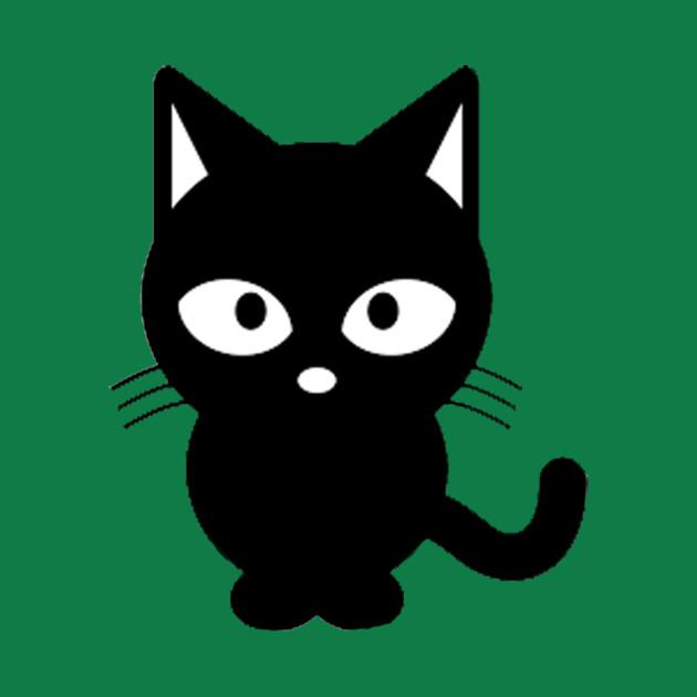 Cute kid dressed like a cat clipart clip black and white stock Cute Cat - Black and White Clipart clip black and white stock