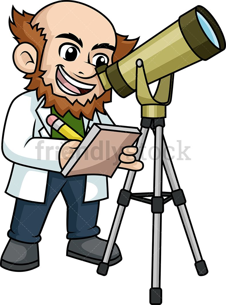Cute kids doing things clipart science telescope free svg free download Scientist Looking Through Telescope   Cartoon people\'s   Clip art ... svg free download