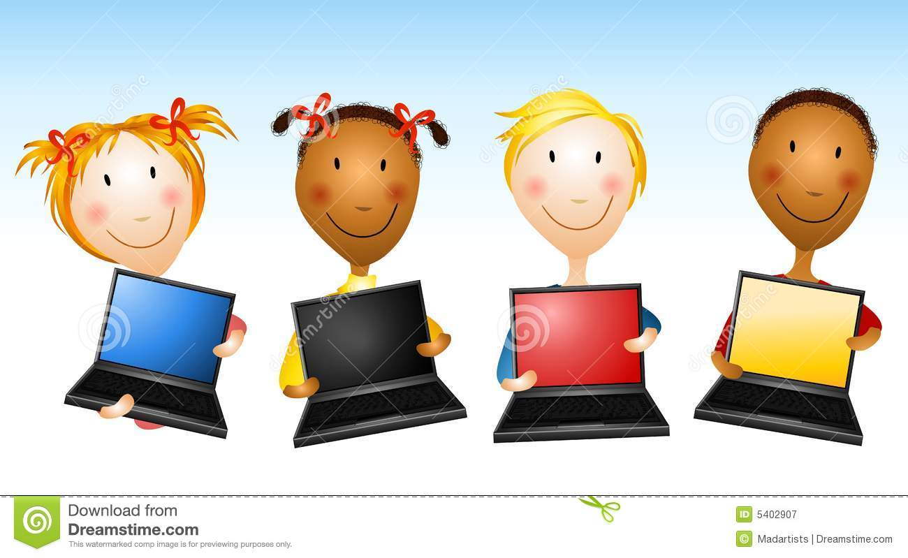 Free clipart of kids with a laptop freeuse stock Technology Clipart For Kids (105+ images in Collection) Page 2 freeuse stock