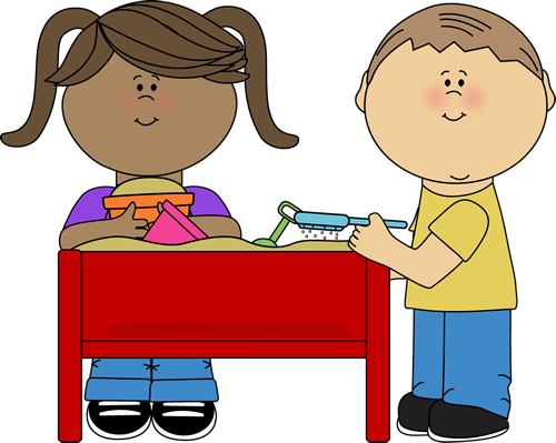 Playing in the sand clipart graphic transparent Kids Playing at a Sand Table | Clip Art-School | Kids playing ... graphic transparent