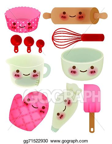 Cute kitchen clipart image free library EPS Illustration - Cute kitchen utensil. Vector Clipart ... image free library