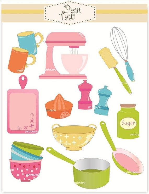Cute kitchen clipart image free stock cute kitchen clip art | Do wydruku | Clip art, Kitchen art ... image free stock