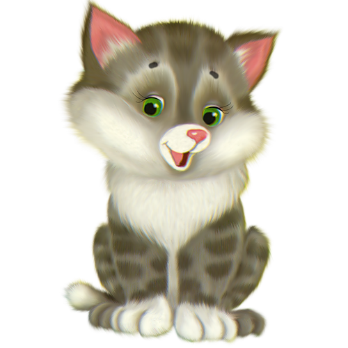 Cute cartoon . Free kitten clipart images