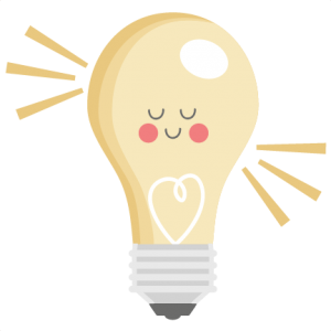 Png photos of cute clipart edison light bulb picture black and white Daily FREEBIE) Happy Lightbulb - Available for FREE today only, Jan ... picture black and white