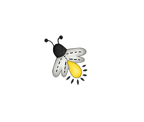 Cute lightning bug black and white clipart jpg transparent Fireflies - Lightning bugs - Digital Clipart - PNG - JPG - Hand ... jpg transparent