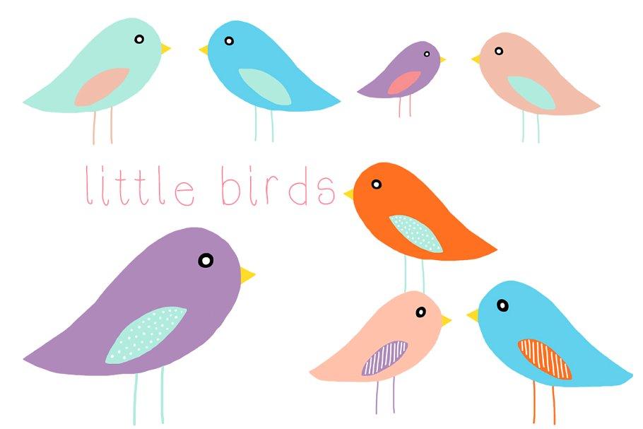 Cute little birds clipart clip art transparent library Little Birds Clip Art clip art transparent library