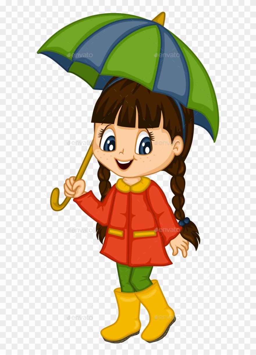 Cute little girl clipart jpg freeuse Cute Little Girl For 4 Seasons - Girl Cartoon 4 Seasons ... jpg freeuse
