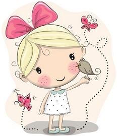 Cute little girl clipart jpg black and white stock Free Little Girl Clipart jpg black and white stock