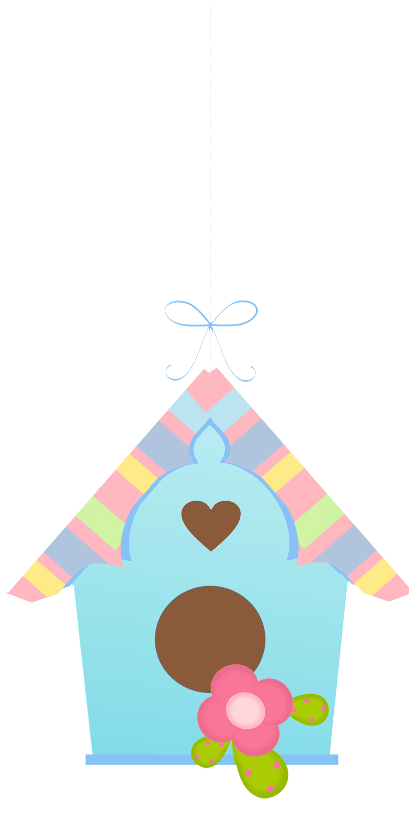 Cute little house clipart svg free birds-and-birdhouses--pretty-clipart-002.png (800×1600) | bird house ... svg free