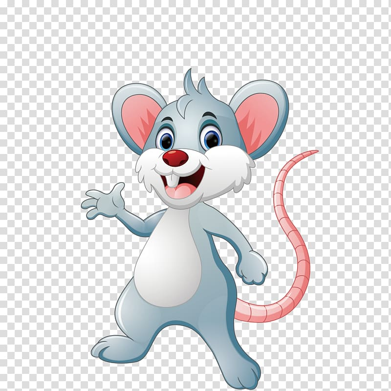 Cute little mouse clipart svg freeuse Gray and pink rat illustration, Mouse Cartoon Illustration ... svg freeuse