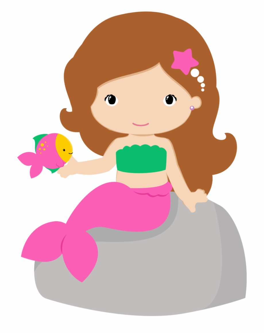 Library of cute mermaid graphic library stock png files ...