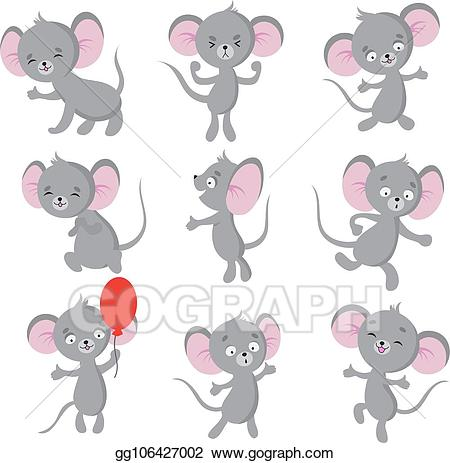 Cute mice clipart picture freeuse stock Vector Art - Cute mouse. cartoon mice in house. vector ... picture freeuse stock