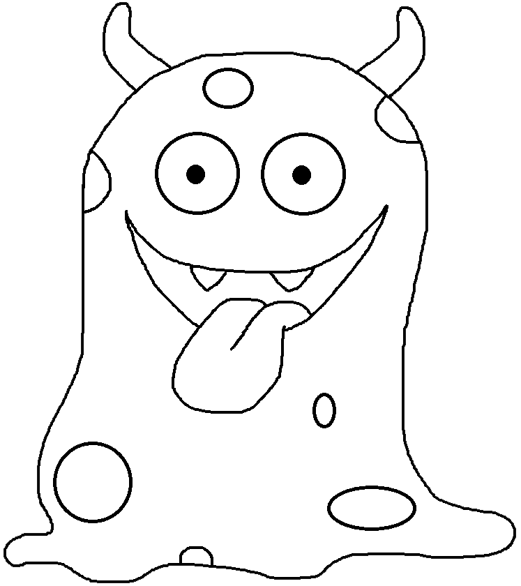 Free black and white halloween monster clipart clipart download Graphics by Ruth - Monster | Monstrinhos | Pinterest | Monsters ... clipart download