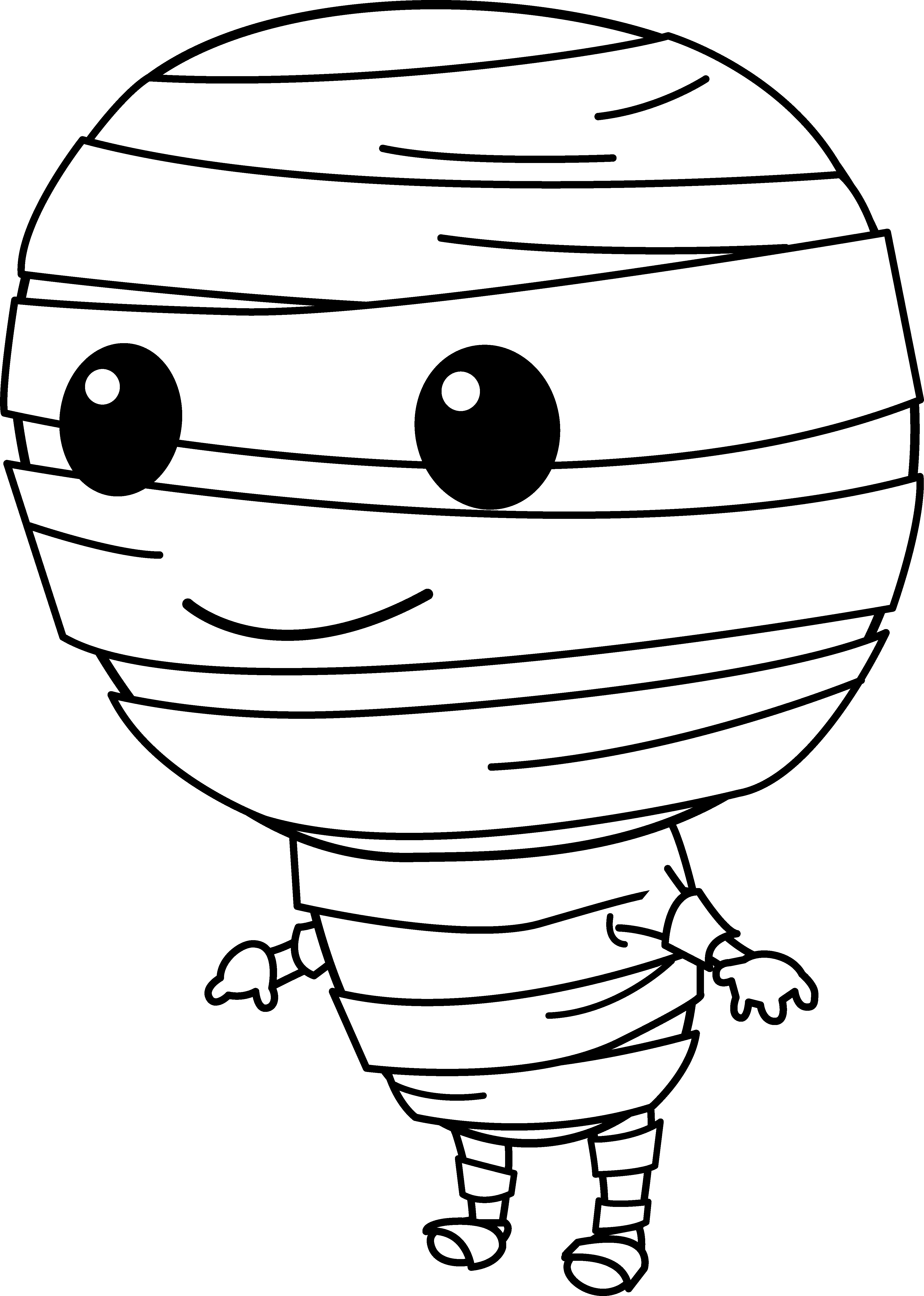 Cute mummy clipart graphic black and white library Cute Little Mummy Clip Art - Free Clip Art | Coloring page ... graphic black and white library