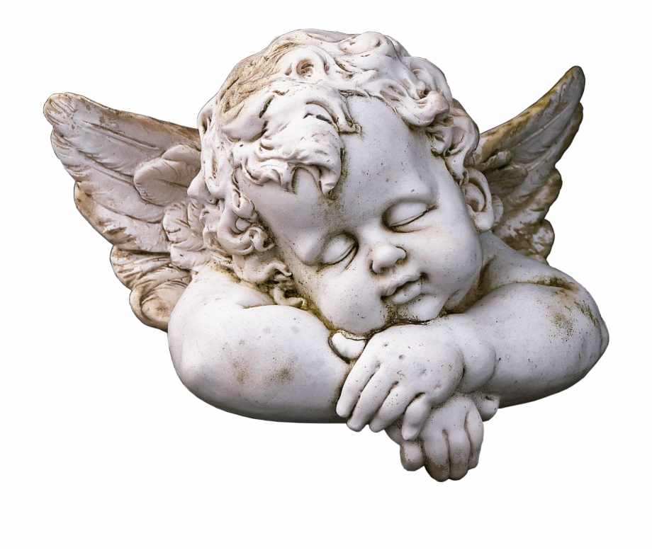 Cute naughty child angel free clipart clip black and white library Cute Sleeping Angel Statue - Cherub Sleeping Free PNG Images ... clip black and white library