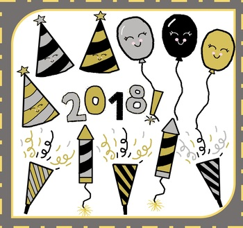 Cute new years clipart jpg royalty free download New Year Clipart / New Year\'s Clipart / Happy New Year Clipart / 2018  Clipart jpg royalty free download