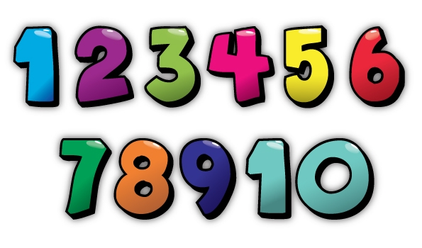 Cute numbers clipart 1 10 picture library download Cute Numbers Clipart 1-10 - clipartsgram.com picture library download