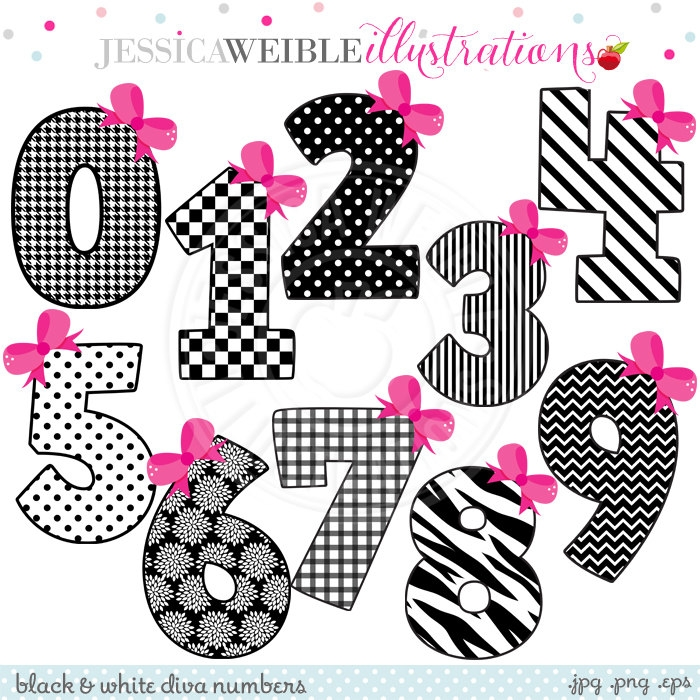 Cute numbers clipart 1 10 black and white stock Cute Numbers Clipart 1-10 - clipartsgram.com black and white stock