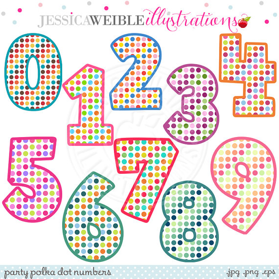 Cute numbers clipart 1 10 svg freeuse stock Cute Number Clipart - Clipart Kid svg freeuse stock