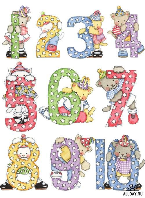 Cute numbers clipart 1 10 png royalty free download Numbers ‿✿⁀ | Cute Cliparts ~ Set | Pinterest | Numbers and ... png royalty free download