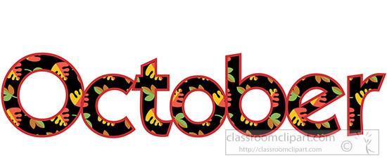 Clipartfest webwords image. Cute october 2016 clipart