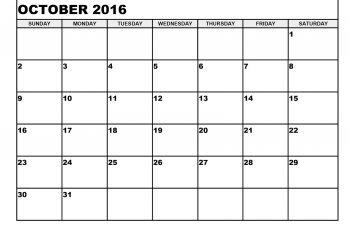 Cute october 2016 clipart. Calendar excel printable calendars