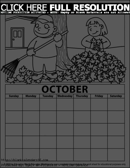For calendar clipartfest clip. Cute october 2016 clipart