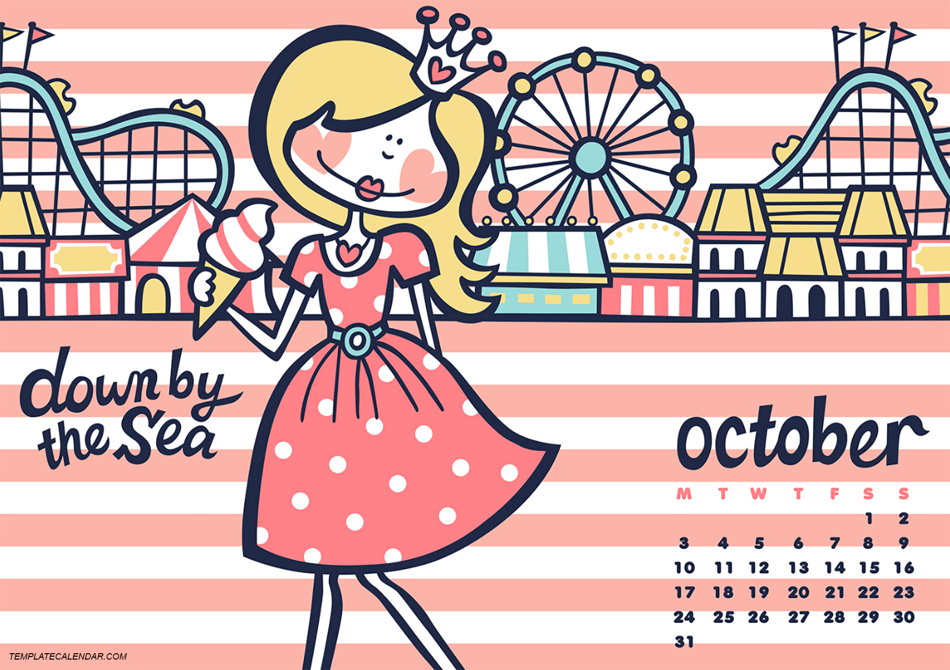 Cute october 2016 clipart image royalty free library October 2016 Wallpaper With Calendar #Wallpaper #2016October image royalty free library
