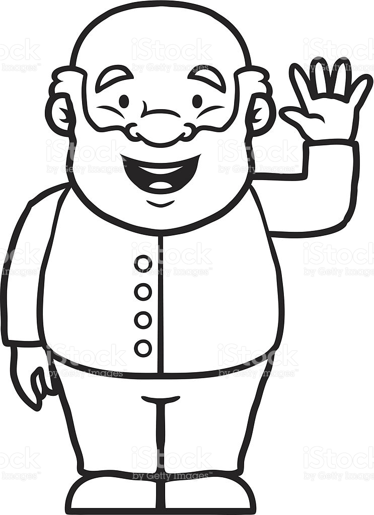 Cute old person black and white clipart svg black and white library Very Old Man Clipart Black And White svg black and white library